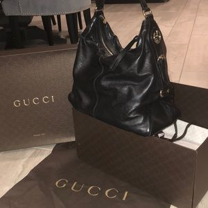 Gucci Interlocking GG leather Hobo Bag